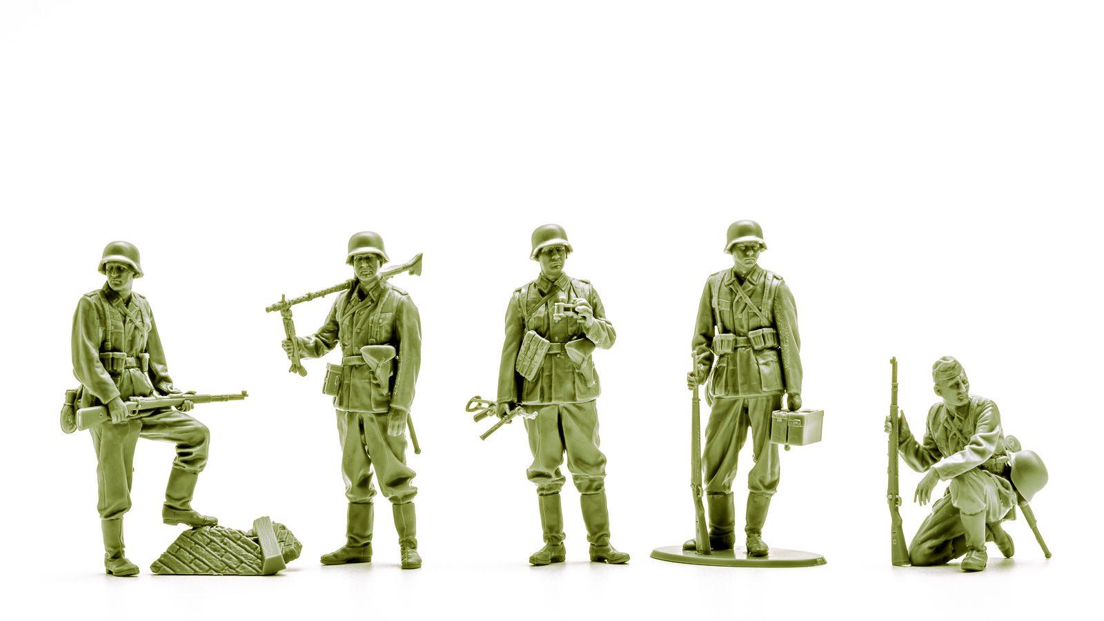 超リアルな歩兵の人形を眺めてみる。