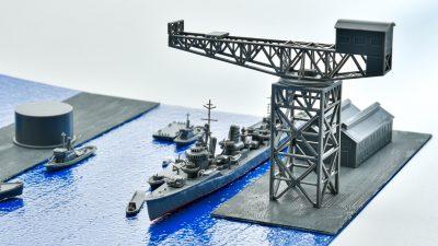 「港」爆誕!!「クレーンセット」で艦船模型の情景遊びを楽しむ!!