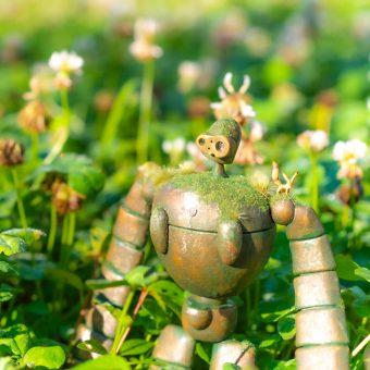 「天空の城」で癒やしの汚し塗装。/ロボット兵にありったけの草を!!