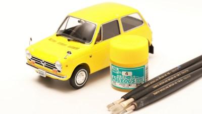 ちっさカワイイ自動車のプラモ、「ハセガワのホンダN360」を筆塗りでオススメします!