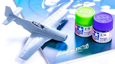 タミヤの塗料棚に潜むエヴァ初号機/2色で「味変」する飛行機プラモの遊び方!