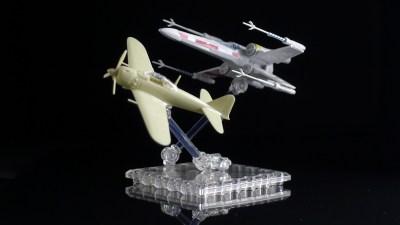 食玩ベースでコンパクトな飛行機プラモをダイナミックに飛ばそう!