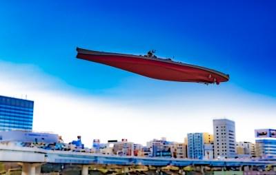 晴れた日は、戦艦のプラモデルを空に飛ばそう。