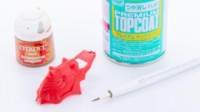 色付きのガンプラをチョイ塗りするなら、サフ代わりにつや消しコートしませんか?