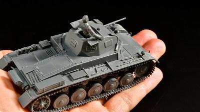 「人類史上最大の戦いの火蓋を切った戦車」を手のひらサイズのプラモで味わう。