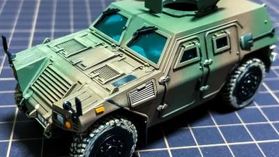 普通科部隊のお供、軽装甲機動車を1/48のプラモデルで味わう。