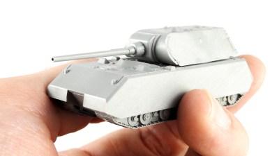 手のひらサイズより小さい。ミニマムな超重戦車のプラモデルを愛でる!