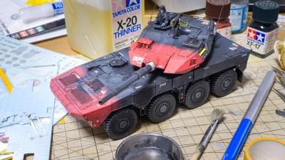 虚構 対 現実。/実在する「16式機動戦闘車」のプラモをオリジナルカラーで塗る!