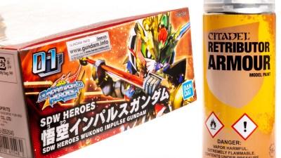 集え、ワールドヒーローズ!「1本4000円の缶スプレー」で実現する爆速ガンプラ塗装術。