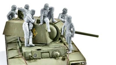 ピックアップ・タミヤMMフィギュア!   小休止、戦車を添えて。「ソビエト 戦車兵小休止セット」