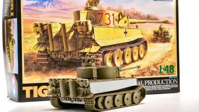 ODティーガーIに成型色の夢を見る。「タミヤ 1/48 ドイツ重戦車 タイガーI極初期生産型(アフリカ仕様)」