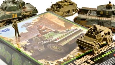 俺について来い!イギリス戦車のかっこよさが爆上がりするスパイスプラモ「タミヤ 1/48 ディンゴ Mk.II」