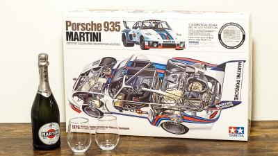 「酒と模型」に父親の姿を見た。「タミヤ 1/12 ポルシェ 935 マルティーニ」。