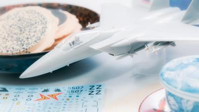 初めての飛行機模型の味は、南部せんべいの耳の味。ハセガワ  F-15C イーグル