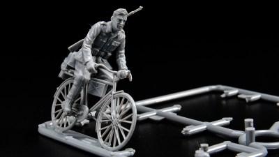 ピックアップ・タミヤMMフィギュア!ちょっと変わったミリタリープラモを乗りこなしたい!「ドイツ 自転車行軍セット」