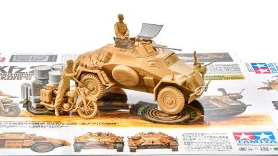 花金だ!仕事帰りに買うプラモ。/戦車模型の楽しい三拍子が詰まった北アフリカ偵察隊!!「Sd.Kfz.222 北アフリカ戦線」。