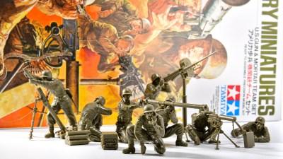 ピックアップ・タミヤMMフィギュア! アツさとシャープさが入り混じった造形は、もはや重要模型文化財!「アメリカ歩兵 機関銃チームセット」