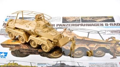 花金だ!仕事帰りに買うプラモ。/タミヤ戦車プラモの傑作が北アフリカを纏いパワーアップ!「ドイツ 8輪重装甲車 Sd.Kfz.232 アフリカ軍団」