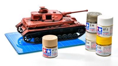 砂漠色はタミヤ ライトブラウンの4段活用で攻める!/アフリカと俺 2021 「タミヤ ドイツIV号戦車G型初期生産車