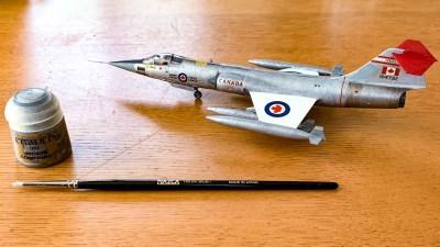 1/72のジェット戦闘機プラモをドライブラシで塗る!