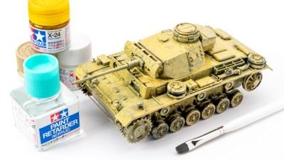 タミヤアクリルの筆塗りで戦車を楽しむ/ダークイエローの冒険