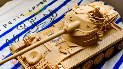 プチな中にタミヤの戦車模型のエスプリを凝縮!!「フランス軽戦車 AMX-13」。