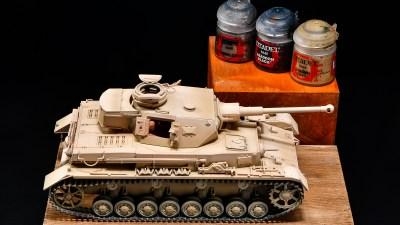 戦車プラモの細部筆塗り愛用塗料ベスト4!/アフリカと俺 2021 「タミヤ ドイツIV号戦車G型初期生産車」