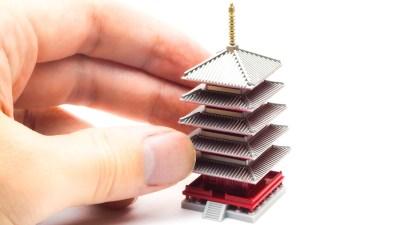 五重塔の模型のモケイ/フジミ 浅草寺