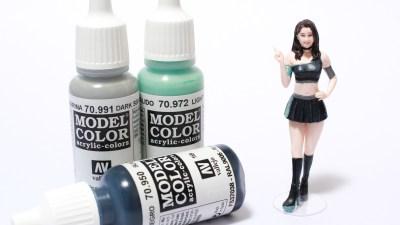 プラモになった女の子を塗るときの、オリジナルカラーは君の腕に。ハセガワ1/24レースクイーン