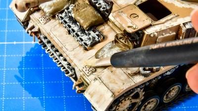 プラモの砂埃塗装の革命児「ホワイトダスト」!!/アフリカと俺 2021 「タミヤ ドイツIV号戦車G型初期生産車」