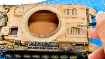 戦車プラモは「粉物」で〆る!!!/アフリカと俺 2021 「タミヤ ドイツIV号戦車G型初期生産車」